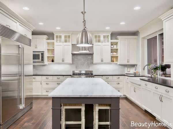 دکوراسیون داخلی آشپزخانه کلاسیک و شیک