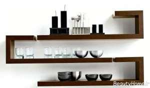 مدل قفسه دیواری برای آشپزخانه