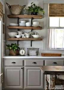 مدل قفسه دیواری آشپزخانه