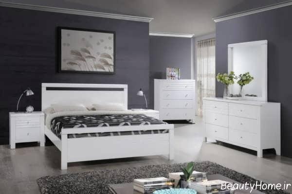 مدل سرویس خواب سفید و شیک