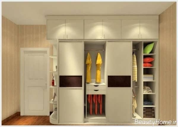 مدل کمد دیواری کوچک با انواع طراحی زیبا و کاربردی برای