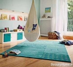 طرح قالیچه ساده برای اتاق کودک