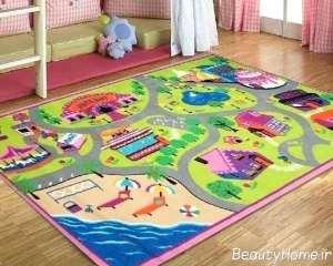 مدل قالیچه شیک برای اتاق کودک