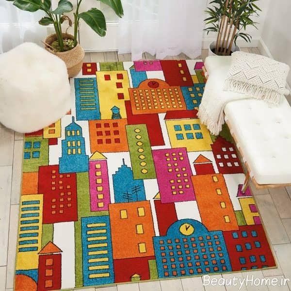 قالیچه طرح دار برای اتاق کودک