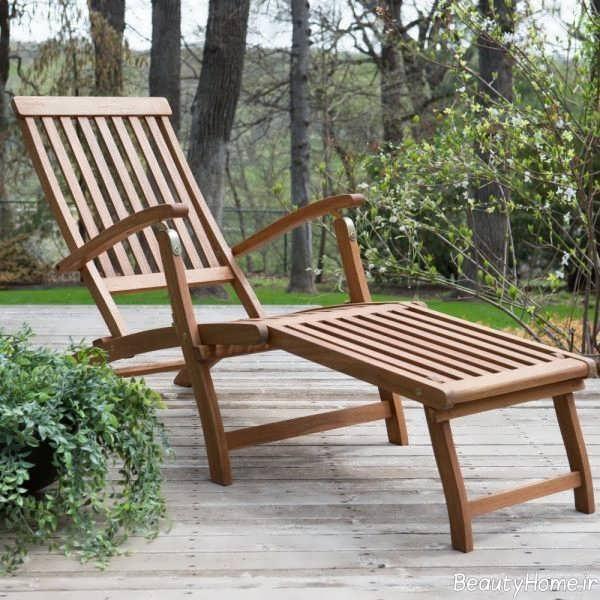 طرح صندلی چوبی