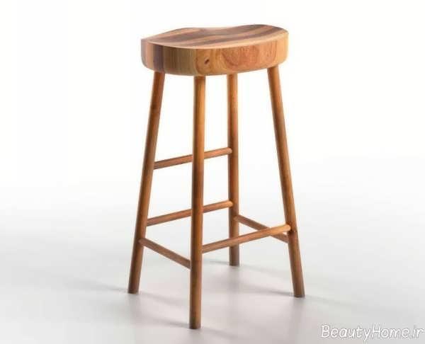 چهارپایه چوبی