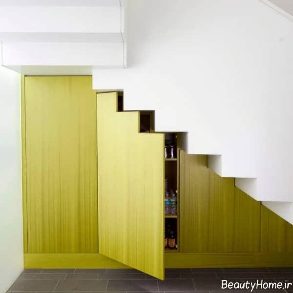 طراحی فضای زیر پله ها