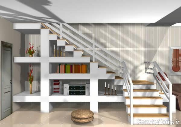 قفسه بندی زیر راه پله ها