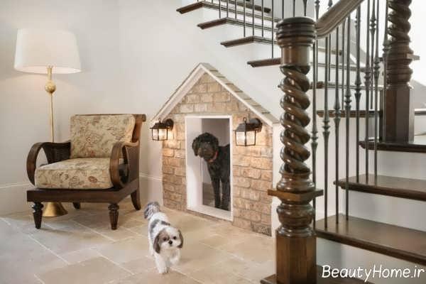 طراحی خانه حیوانات زیر راه پله
