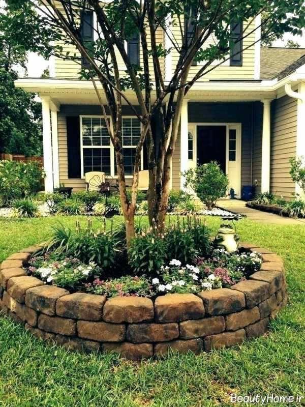 تزیین باغچه حیاط