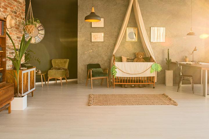 طراحی اتاق نوزاد دختر