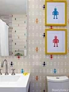 کاغذ دیواری مخصوص سرویس بهداشتی