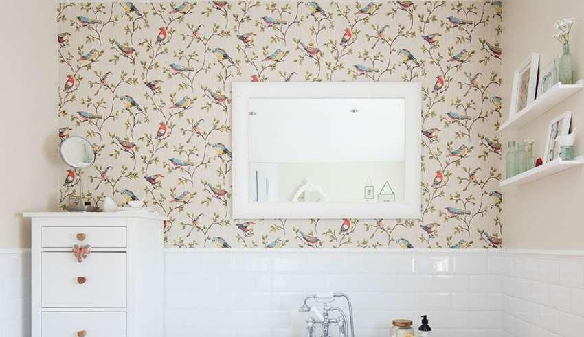 کاغذ دیواری سرویس بهداشتی
