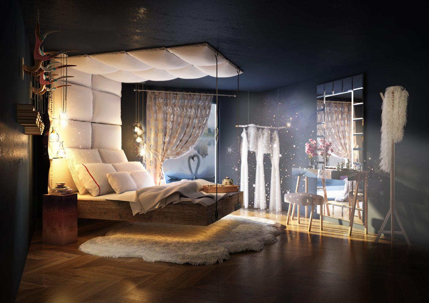دکوراسیون اتاق خواب فانتزی