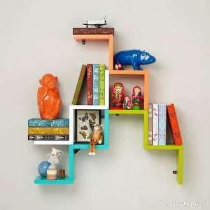مدل کتابخانه دیواری
