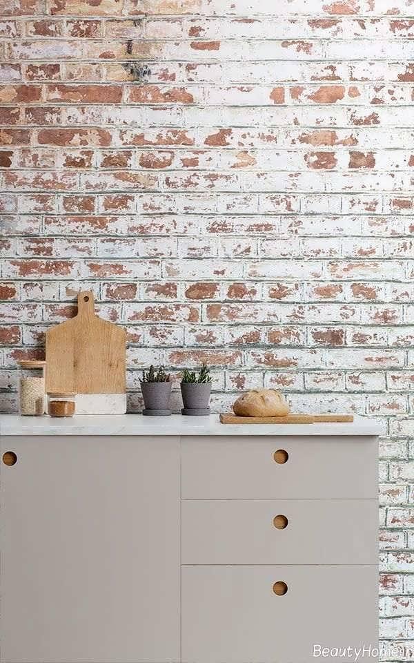 کاغذ دیواری آجری