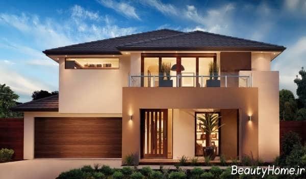 طراحی نمای ساختمان نیم پیلوت