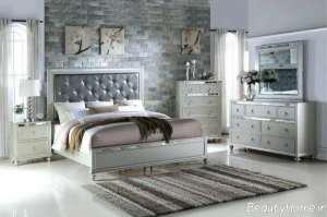 اتاق خواب نقره ای و مدرن