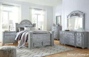 دکوراسیون اتاق خواب نقره ای