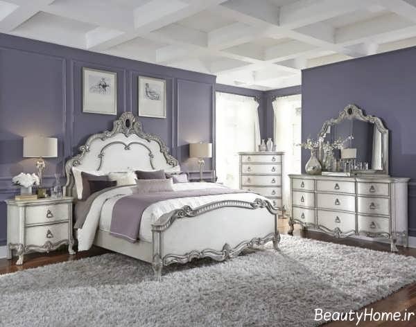 طراحی داخلی اتاق خواب نقره ای