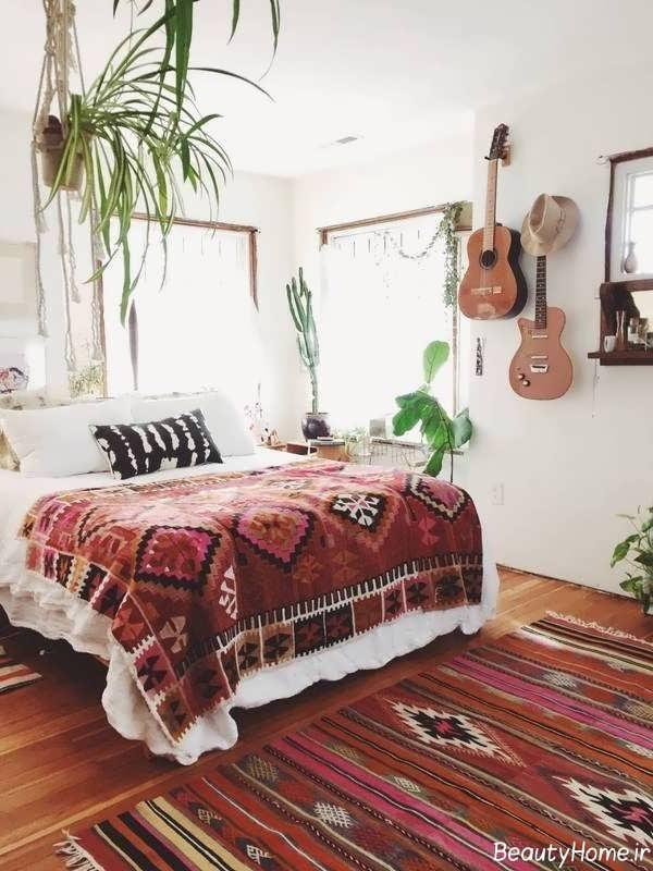 دکوراسیون زیبا و شیک اتاق خواب سنتی