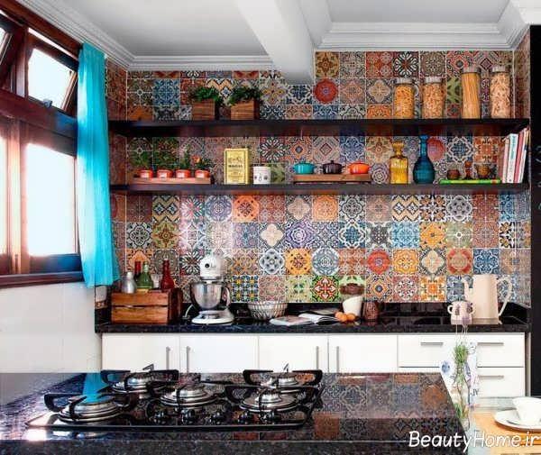 دکوراسیون سنتی و شیک آشپزخانه