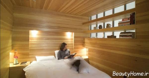 طراحی داخلی چوبی اتاق خواب
