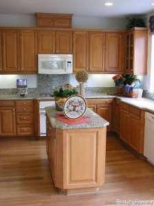 طراحی داخلی چوبی آشپزخانه