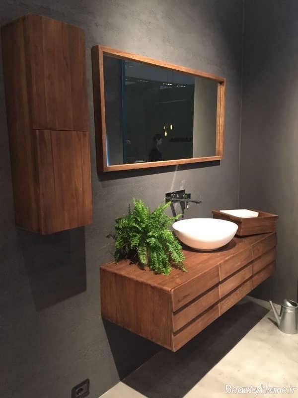 طراحی داخلی چوبی سرویس بهداشتی