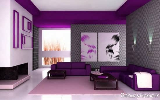 طراحی داخلی یاسی و بنفش