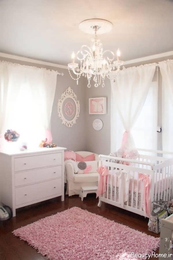 دیزاین اتاق نوزاد دختر