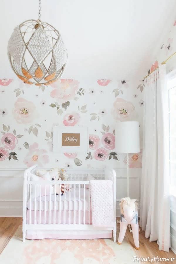دکوراسیون زیبا و شیک اتاق نوزاد