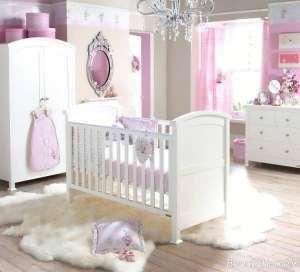 دکوراسیون سفید اتاق نوزاد