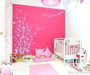 دکوراسیون صورتی اتاق نوزاد