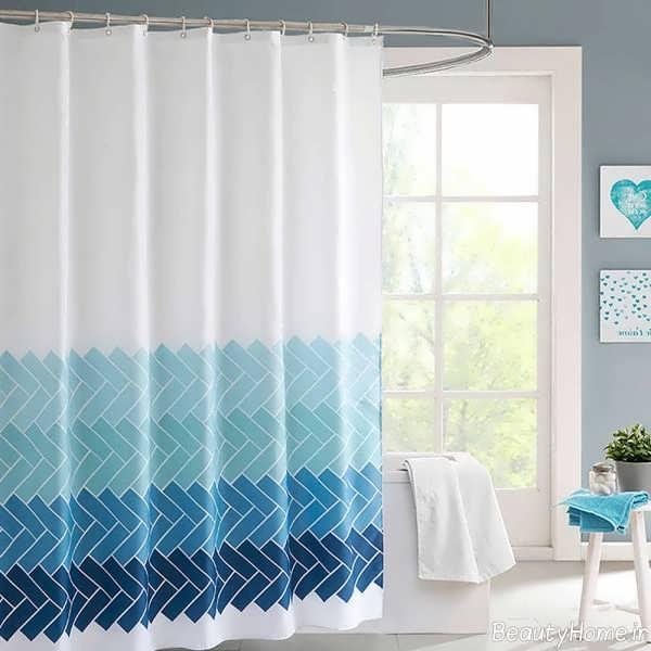 پرده دو رنگ مخصوص حمام