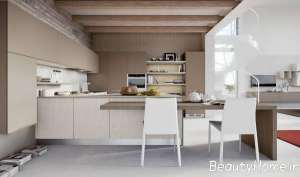 دکوراسیون آشپزخانه بژ