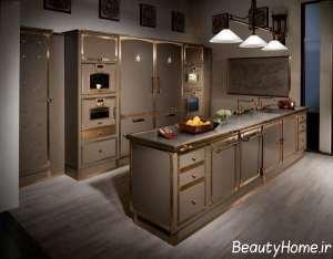 دکوراسیون آشپزخانه با رنگ بژ