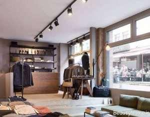 طراحی نورپردازی مغازه پوشاک زنانه