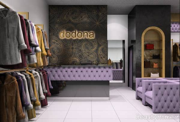 دکوراسیون زیبا و شیک مغازه پوشاک