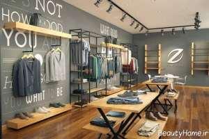 دکوراسیون مغازه پوشاک مردانه