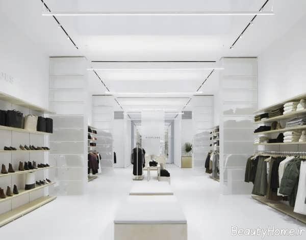 دکوراسیون ساده فروشگاه لباس