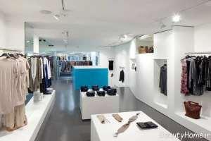 دکورسیون دو رنگ مغازه پوشاک