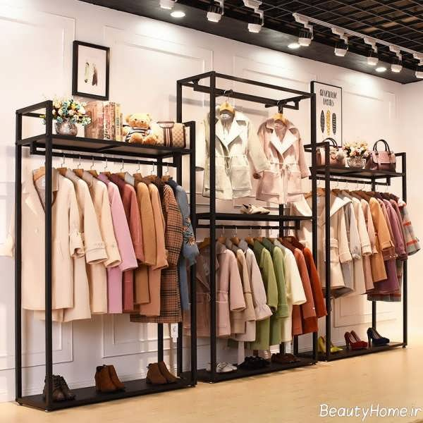دکوراسیون فروشگاه پوشاک با ایده های جالب