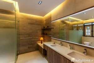 نورپردازی سقف سرویس بهداشتی