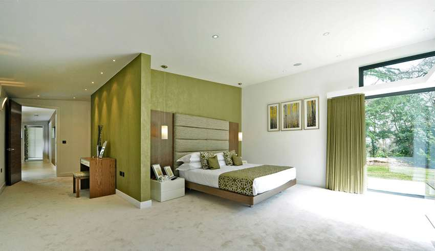 اتاق خواب سبز