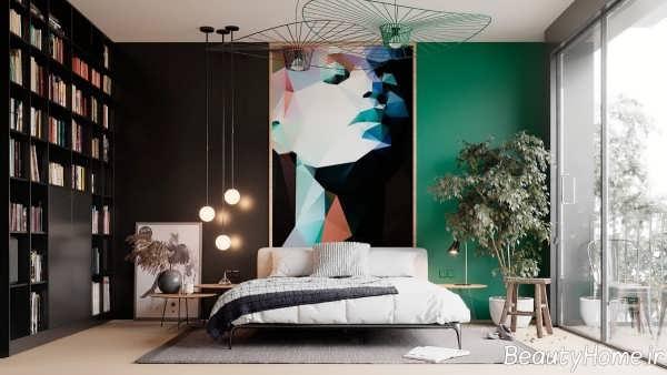 اتاق خواب سبز و شیک