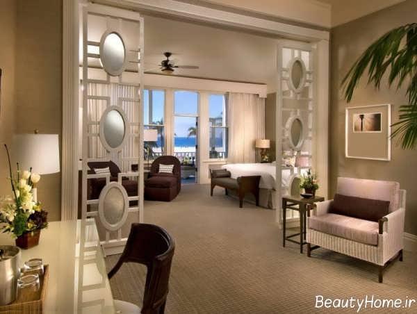 دکوراسیون زیبا و کاربردی اتاق هتل