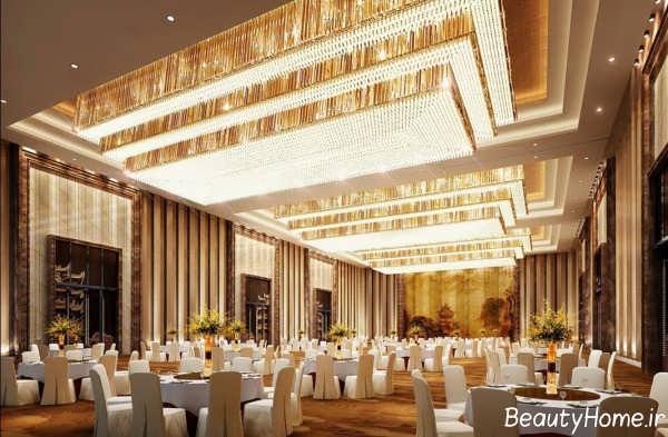 طراحی نورپردازی تالار پذیرایی