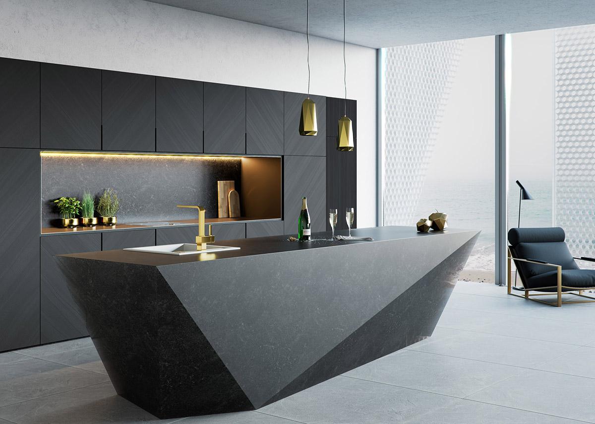 مدل های میز جزیره جدید و شیک با انواع طراحی کاربردی