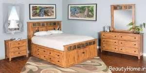 مدل سرویس خواب چوبی